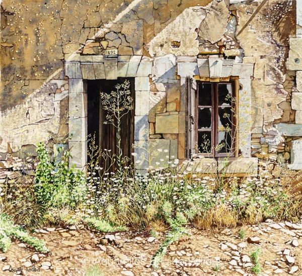 1892 (38x35cm)<br/>© Aquarelle Brigitte Willers.