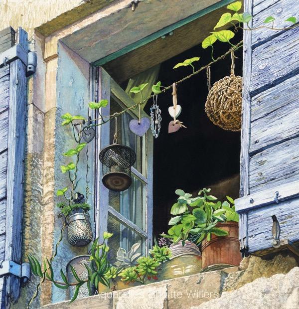 Chez Nadia (44x42cm)<br/>© Aquarelle Brigitte Willers.