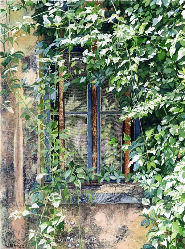 Reflets doux (38x28cm)<br/>© Aquarelle Brigitte Willers.